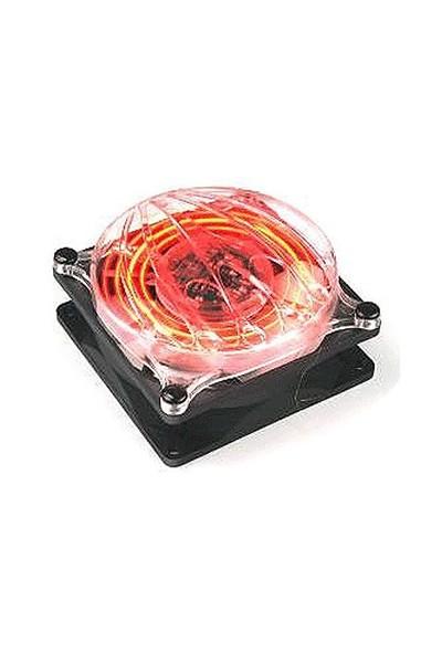 Thermaltake Cyclo 80mm Efektli Kırmızı Ledli Kasa Fanı (A2452)
