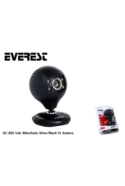 Everest Sc-802 Usb Mikrofonlu Silver/Black Pc Kamera