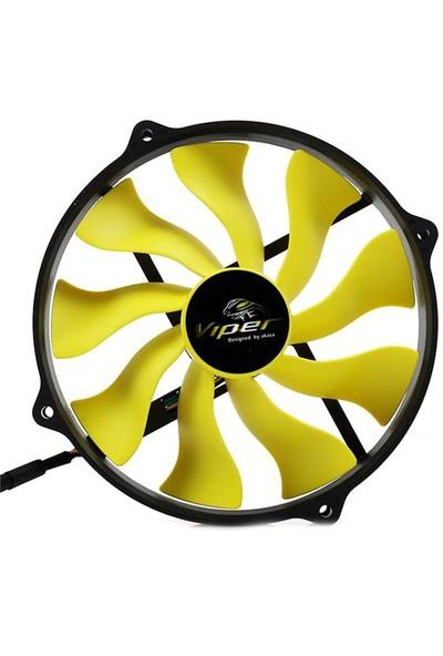 """Akasa """"Viper R"""" 12cm Yuva için 14cm S-Flow Yüksek Performanslı Sessiz Fan (AK-FN073)"""