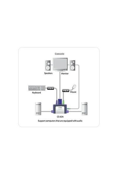 Digitus 2 Port PS2 Vga Kvm Switch ATEN-CS62AZ