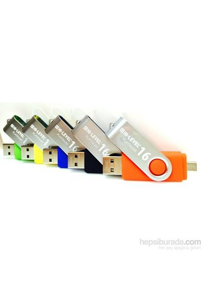 Hi-Level OTG Smart 16GB Usb Bellek (HLV-USB20B/16G-MAVİ)