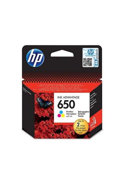 HP 650 Üç Renkli Mürekkep Kartuşu (CZ102AE)