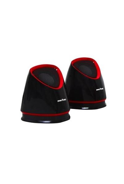 Mikado Md-158 2.0 Siyah/Kırmızı Usb Speaker