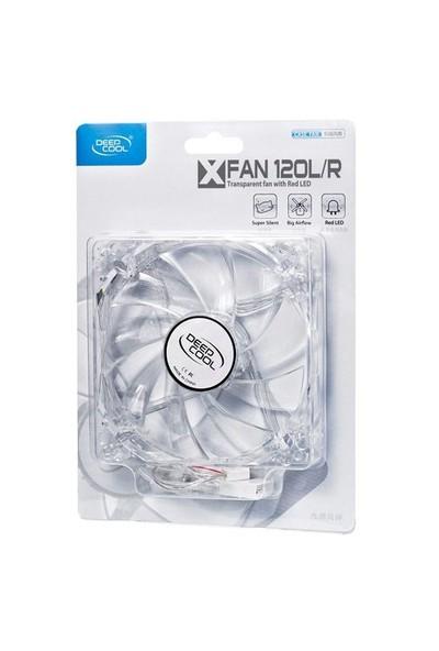 Deep Cool XFAN 120L/R Kırmızı Ledli 120mm Kasa Fanı