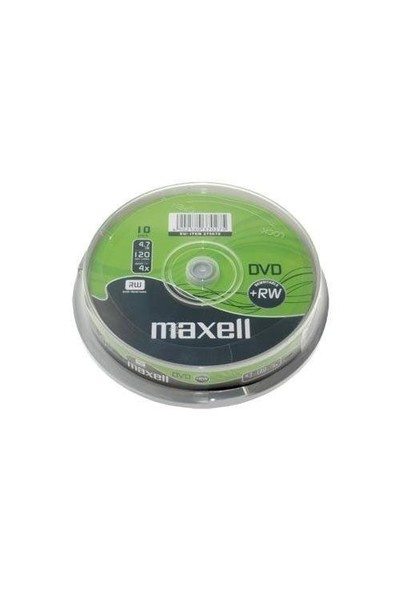 Maxell DVD+RW 4X 4,7GB 120MIN 10'Lu Cakebox