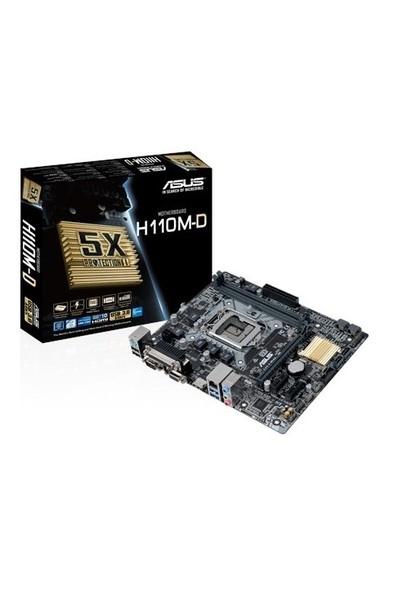 Asus H110M-D Intel H110 2133MHz DDR4 Soket 1151 Micro-ATX Anakart