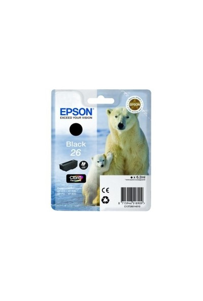 Epson T260140(26) XP600-700-800 Siyah Kartuş
