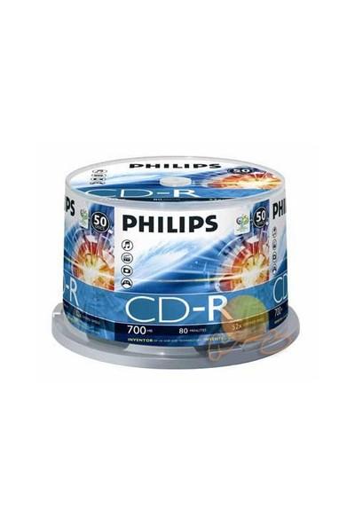 Philips 700MB 80DK 52X 50'LI Cakebox CD-R - CR7D5NB50-00