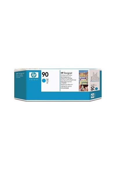 HP 90 Mavi Baskı Kafası+Kafa Temizleyicisi C5055AE / C5055A