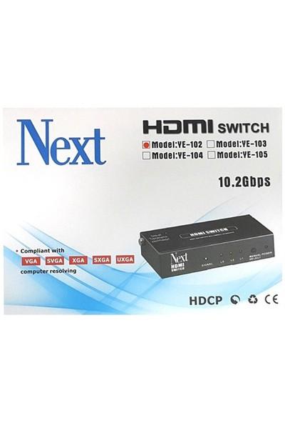 Next Ye-102 2X1 Hdmı Switch - 2 Port Kumandalı