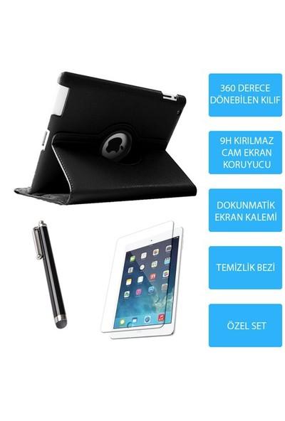 Mobile World iPad Air Siyah Kılıflı 3 Parça Aksesuar Seti
