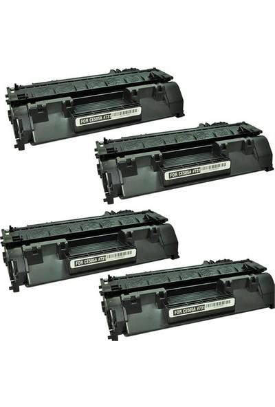 Retech Hp Laserjet Pro P2055 Toner Muadil Yazıcı Kartuş 4 Lü Ekonomik Paket