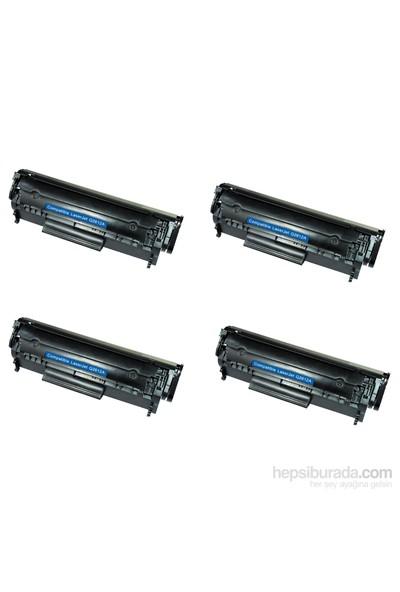 Retech Hp Laserjet 1022Nw Toner Muadil Yazıcı Kartuş 4 Lü Ekonomik Paket