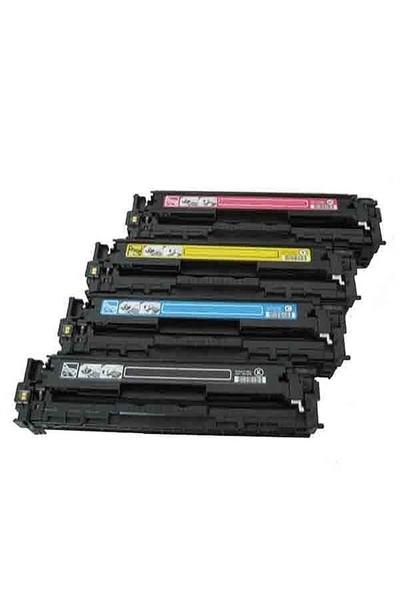 Retech Hp Color Laserjet Pro Cp1215 4 Renk Renkli Toner Muadil Yazıcı Kartuş 4 Lü Ekonomik Paket
