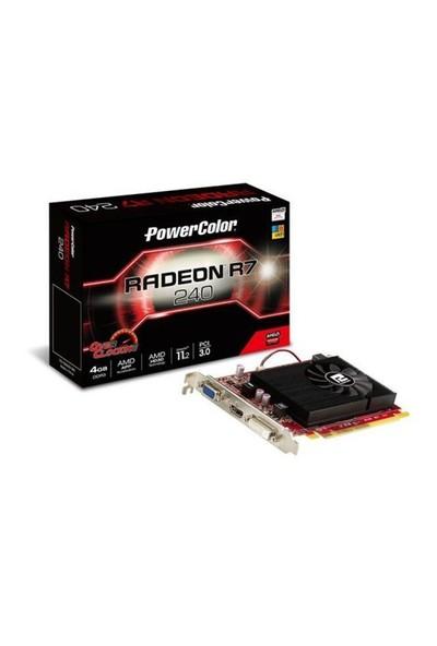 Powercolor Pwr-R7-240-4Gbk3 Powercolor R7 240 4Gb Ddr3 128Bit Pcıe Ekran Kartı