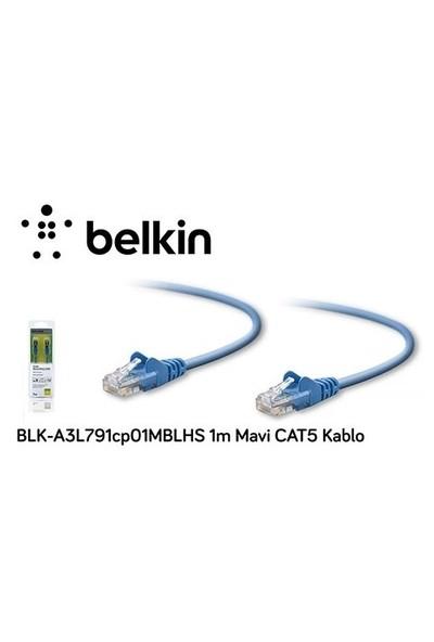 Belkin Blk-A3l791cp01mblhs 1M Mavi Cat5 Kablo