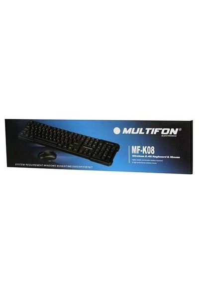 Multifon MF-K08 2.4GHz Wireless Klavye+Mouse Set