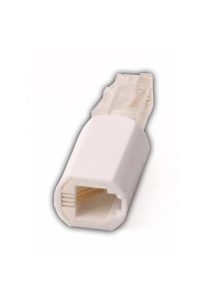 T.Tec Te-802 Telefon Spiral Koruyucu Beyaz Jak
