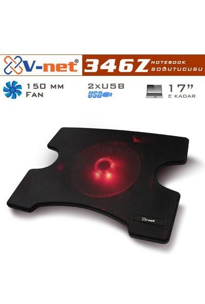 V-net 346Z 15cm Kırmızı LED Fanlı 1 Port USB Notebook Soğutucu