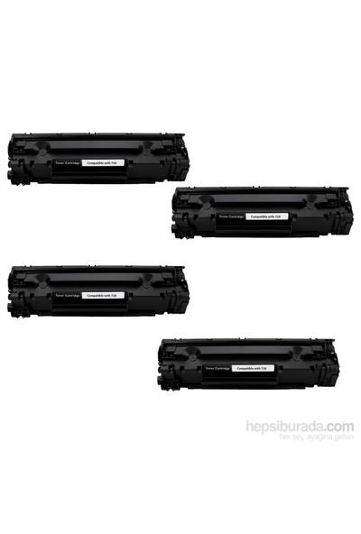 Retech Canon Crg 728 Toner Muadil Yazıcı Kartuş 4 Lü Ekonomik Paket