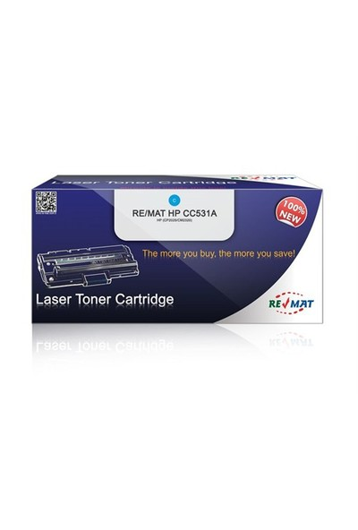 Re/Mat Hp Cc531a Mavi Muadil Toner %100 Yeni