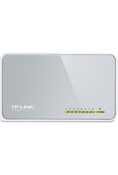TP-LINK TL-SF1008D 8-Port 10/100Mbps Tak ve Kullan % 60 Enerji Tasarruflu Switch