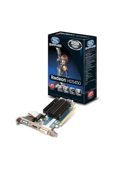 Sapphire Ati Radeon HD5450 2GB DDR3 (Directx 11) PCI-E 2.1 DX11 Ekran Kartı (11166-45-20G)