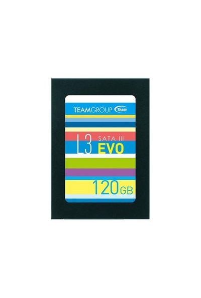 "Team L3 EVO 2.5"" 120GB SATAIII 7mm UltraBook Uyumlu SSD 530 - 400MB/sn SSD(TMSSDL3EVO120G)"