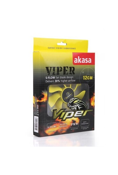 Akasa Viper 12cm S-Flow Yüksek Performanslı Sessiz Kasa Fanı (AK-FN059)
