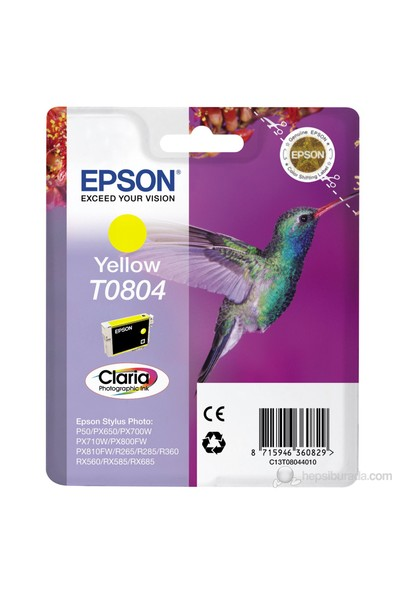 Epson C13T08044021 / T0804 Sarı Mürekkep Kartuş