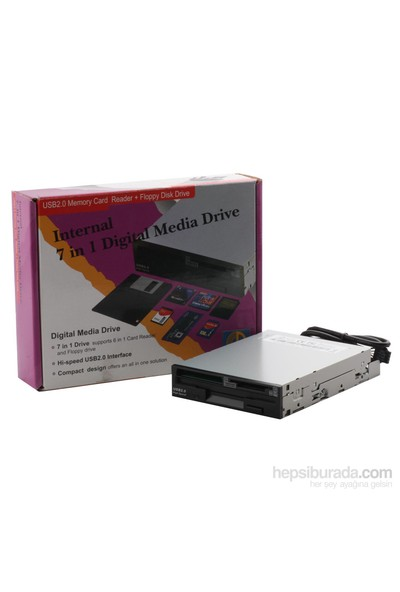 "Circle Data 2,5"" Card Reader - Floppy Siyah"