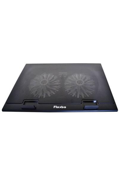 """Flaxes FN-3255 7""""-17"""" USB LED'li Sessiz Çift Fanlı Notebook Soğutucu"""