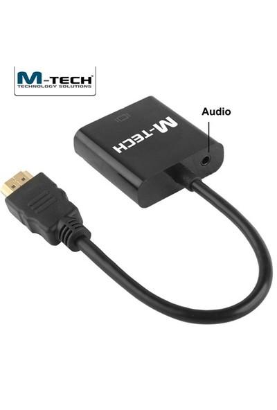 M-Tech MHVC0052 Ses Destekli 1080P HDMI-VGA Çevirici