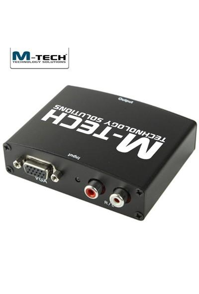 M-Tech MVHC0060 Ses Destekli, 1080P VGA-HDMI Çevirici