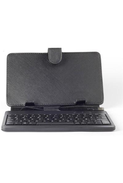 """Rexpo RTK-10 7"""" Siyah Klavyeli Tablet Kılıfı"""