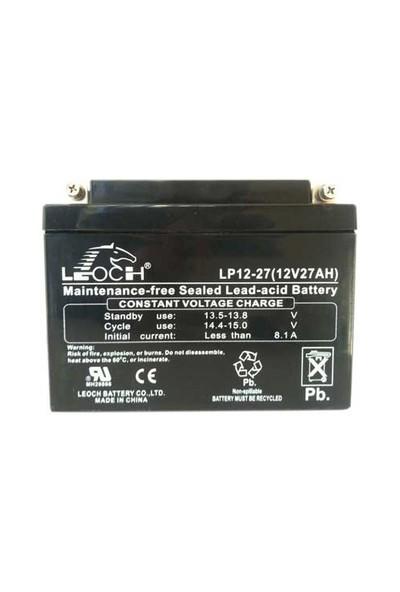 Leoch 12V 27AH Bakımsız Kuru Akü BT-BI20013