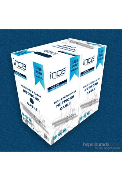 Inca %100 Bakır 305 Metre High Speed Cat6 Network Kablosu (ICAT-305B)