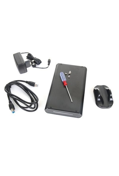 "Akasa Noir S USB 3.0/2.0 Destekli 3,5"" Sata Hard Disk Kutusu (AK-IC20U3-BK)"