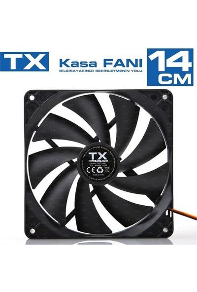 TX 14cm Siyah Kasa Fanı (TXCCF14BK)