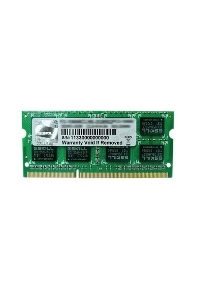 G.Skill Value 2GB 1333Mhz DDR3 Notebook Ram (F3-10666CL9S-2GBSQ)