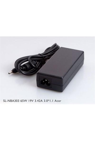 S-Link Sl-Nba303 65W 19V 3.42A 3.0*1.1 Acer Ultrabook Standart Adaptör