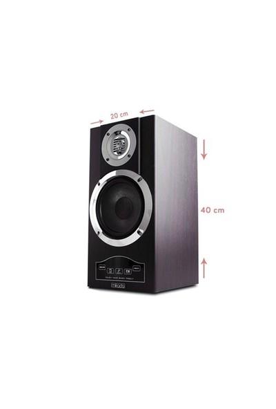 Mikado Md-70 Bl 2.0 Ahşap Sd+Usb Bellek+Fm Desteği Speaker