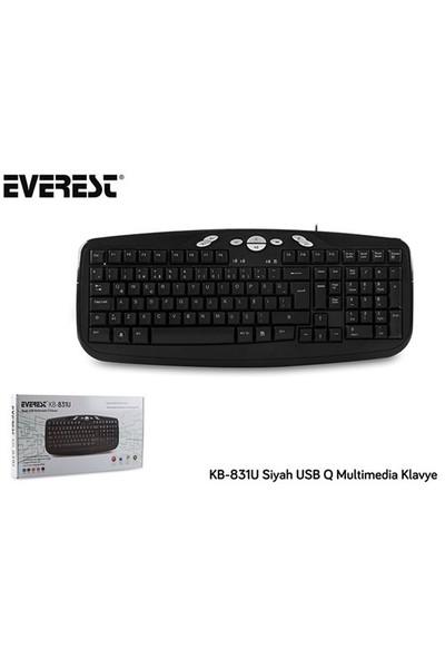 Everest KB-831U Siyah USB Multi media Q Klavye