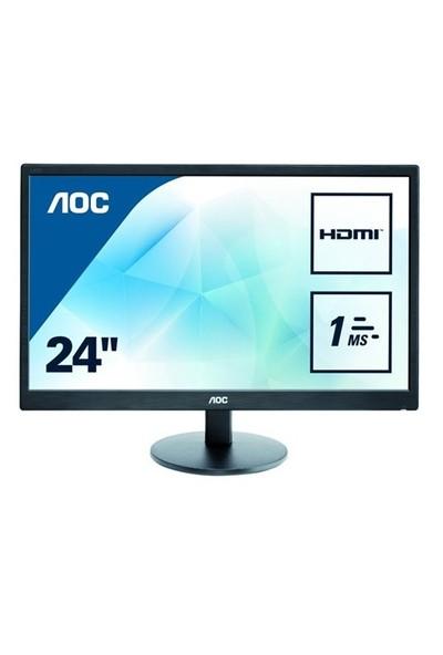 """AOC E2470SWH 24"""" 1ms (Analog+DVI-D+HDMI) Full HD Led Monitör"""