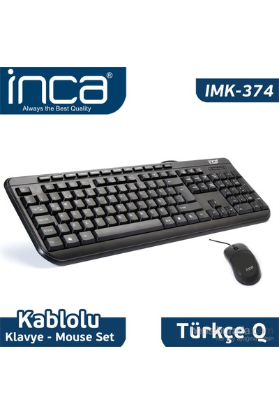 Inca IMK-374U Multimedye Q Klavye Mouse Set