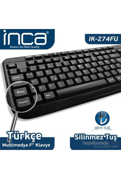 INCA IK-274FU /USB Multimedia Black Laser Print Teknoloji Klavye
