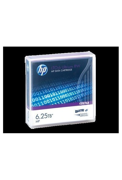Hp C7976a - Hp Lto6 Ultrıum 6.25Tb Rw Data Cartrıdge