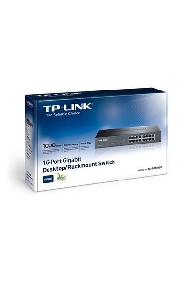 TP-LINK TL-SG1016D 16-Port 10/100/1000Mbps Tak ve Kullan % 40 Enerji Tasarruflu Gigabit Switch