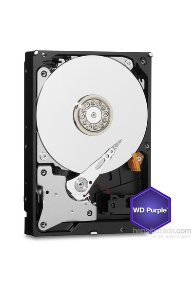 "WD Purple 4TB Intellipower Sata 3.0 64Mb 3,5"" Güvenlik Diski 7x24 (WD40PURX)"