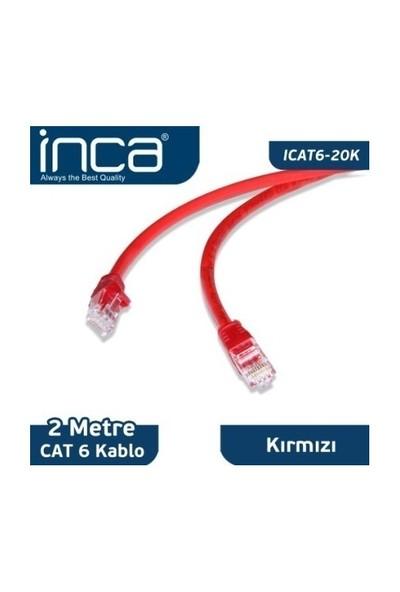 Inca CAT6 2 Metre Kırmızı Patch Kablo